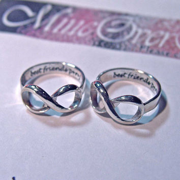 Infinity ring Sterling engraved silver stacking by MineOverMatter