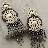 Calixta Fringed Drops by Anthropologie Silver One Size Earrings