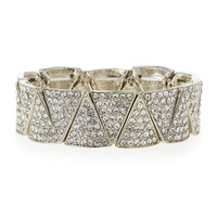 Pave Crystal Stretch Bracelet - Jules Smith