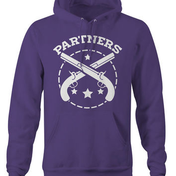 Partners In Crime Best Friend Hoodie - Partners Unisex Gun Hoodies Couples Matching Hooded Pullover