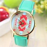 2014 New Design Quartz Watches Dress Watches for Girls Leather Strap
