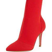 Gianvito Rossi Stretch-Knit Sock Bootie
