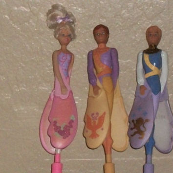 Sky Dancers Doll Flying Fairy Tale Collection Rare 2 Princes 1 Princess Box Directions Laucher