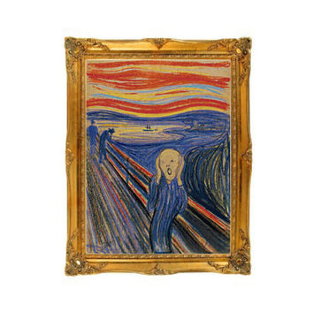 The Scream Edvard Munch Cross Stitch Pattern