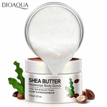 Shea Butter Fruit Cucumber Almond Exfoliating Gel Body Scrub Cream Skin and Whitening Go Cutin Dead Skin Scrub Body Care 120G