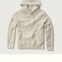 Textured Pullover Hoodie