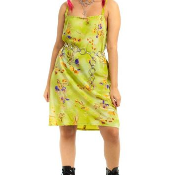 Vintage 90's Avocado Floral Dress - M/L