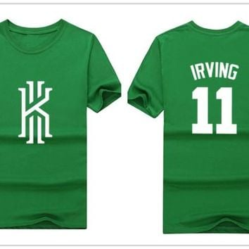 2017 summer Kyrie Irving 11 boston t-shirt 100% cotton simple T Shirt Man casual for fans gift 0823-1