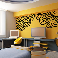 Vinyl Wall Decal Sticker Abstract Circle Corners #OS_MB1177
