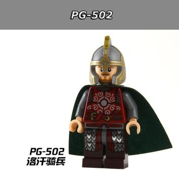 50pcs/lot  PG502 The Lord of the Rings Hobbit Rohan Cavalry Theoden Aragorn Building Blocks Brick Toys