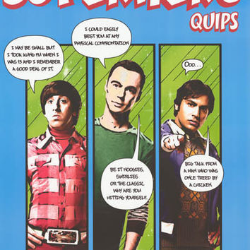 Big Bang Theory Superhero Quips Poster 22x34
