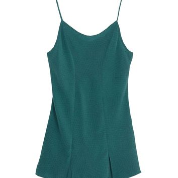 The Luxe Silk Crepe Slip in Teal (XS, S, L)