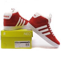 Adidas: Sneaker high with fur