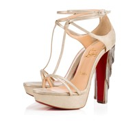 Golden Blake 140 Platine Suede - Women Shoes - Christian Louboutin