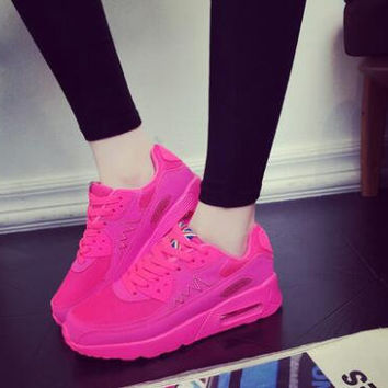 New 2016 Fashion Flats Women Trainers Breathable Balance Sport Woman Air Shoes Casual Outdoor Walking Girls Zapatillas Mujer