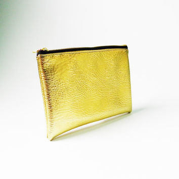 Gold Metallic Purse,Iridescent Purse,Zipper Purse,Women Fashion Purse,Mermaid Pouch,Handbag,Hand Purse,Clutch,Cosmetic Bag,Make up Bag