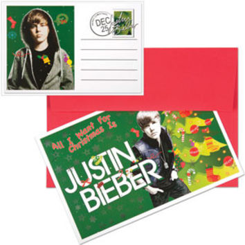 Justin Bieber Greeting Card