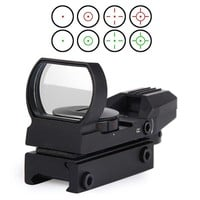 Rail Riflescope Hunting Airsoft Optics Scope Holographic Red Dot Sight Reflex 4 Reticle Tactical Gun Accessories Tools CY1