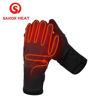 SAVIOR HEAT battery heated glove cycling riding electric heating gloves men women keep warming 3 levels control 2017 new