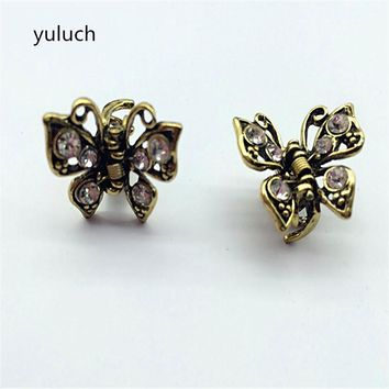 new arrival cheap A word hairpin clamp pearlantique vintage charm  butterfly caught top clip