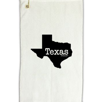 """Texas - United States Shape Micro Terry Gromet Golf Towel 11""""x19 by TooLoud"""