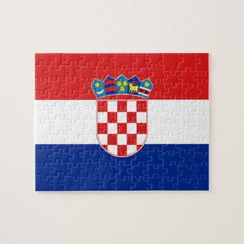 Puzzle with Flag of Croatia