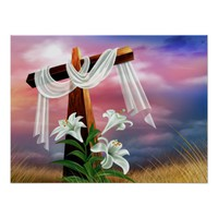 Easter and Palm Sunday Crosses and Scenes Poster