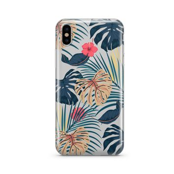 New Day Monstera - Clear TPU Case Cover Phone Case