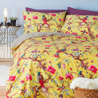 Dorm Decor Flora and Fauna and Fabulous Duvet Cover Set in Full, Queen by Karma Living from ModCloth