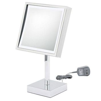 ICIKAB3 First Impressions LED Lighted Square Chrome Vanity Mirror