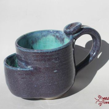 Teabag Mug - Purple and Seafoam