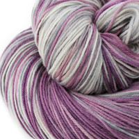 Hand Dyed MCN Sock Yarn - 80/ 10/ 10 blend Superwash Merino Wool, Cashmere & Nylon - Hand Painted