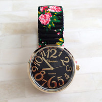 Antique Roses Stretchable Watch