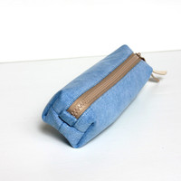 Men's Toiletry Bag, Travel Shaving Kit Bag, Dopp Kit, Cosmetic Pouch, Blue Denim Jeans, Nautical, Gift for Him