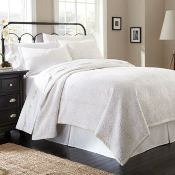 Waterford® Linens Damask Stitch Reversible Quilt