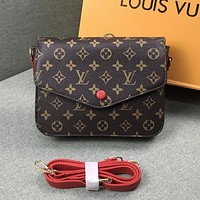 Louis Vuitton LV Women Fashion Leather Shoulder Bag Crossbody Satchel