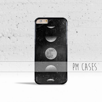 Lunar Moon Phase Case Cover for Apple iPhone 4 4s 5 5s 5c 6 6s SE Plus & iPod Touch