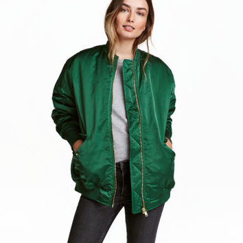 H&M Oversized Bomber Jacket $49.99