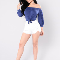 Mistaken Identity Top - Navy