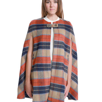 Attitude Is Everything Plaid Cape Coat