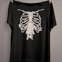 Cute Bat T-Shirt, Pastel Goth Clothing for Kawaii Goth and everyday Wiccan and Pagan People