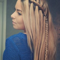 Braided Choppy Waterfall Hairstyle – Braided Hairstyle Trends | Hairstyles Weekly