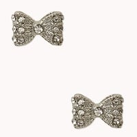 Rhinestoned Bow Studs | FOREVER 21 - 1062402190