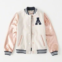 girls varsity bomber jacket | girls coats & jackets | Abercrombie.com