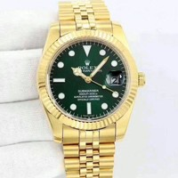 Rolex Stylish Women Men Casual Quartz Movement Watch Lover Wrist Watch I