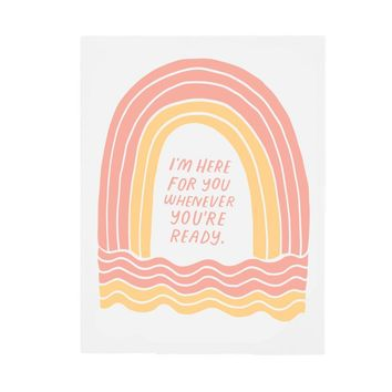 Here for You Rainbow Card