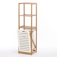Bamboo Hamper Storage Shelves