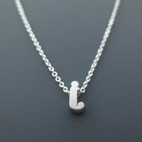 Sterling silver Initial, Small letter, Alphabet personalized, Customized, Necklace