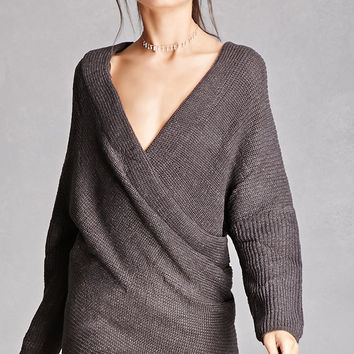 Surplice-Front Sweater
