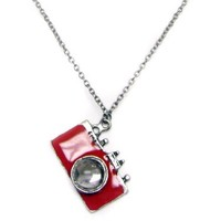 TdZ Red Paparazzi Camera Necklace